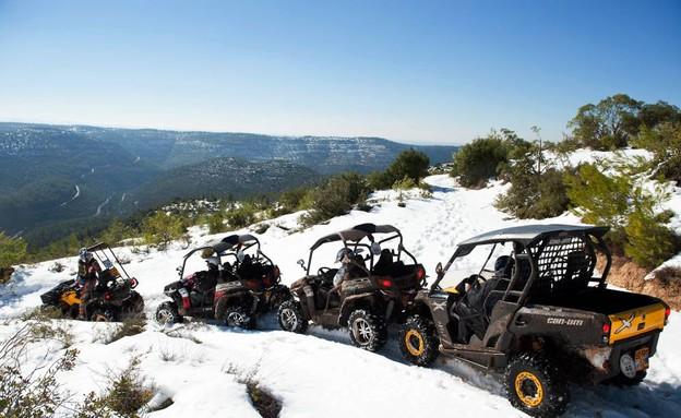 טיול טרקטורונים בשלג בהרי ירושלים (צילום: בני דויטש)