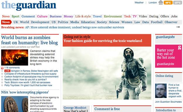 סוף העולם - הגרדיאן (צילום: theguardian.com, Stokkete, Ilya Andriyanov, Jeff Thrower)