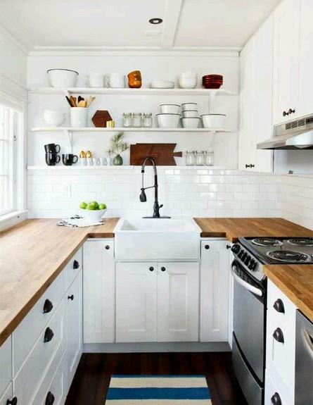 מטבחים קטנים, משטח עץ גובה