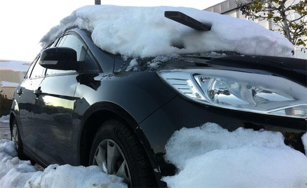 שלג, רכב (צילום: רז חסון)