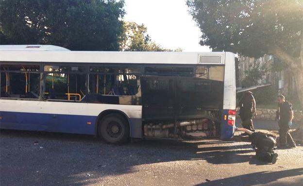 מטען חבלה אוטובוס (צילום: חדשות 2)