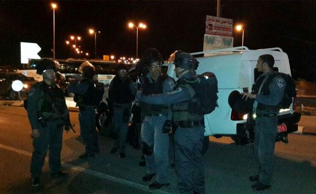 """הכוחות ירו, הפלסטיני נמלט (צילום: משטרת ש""""י)"""