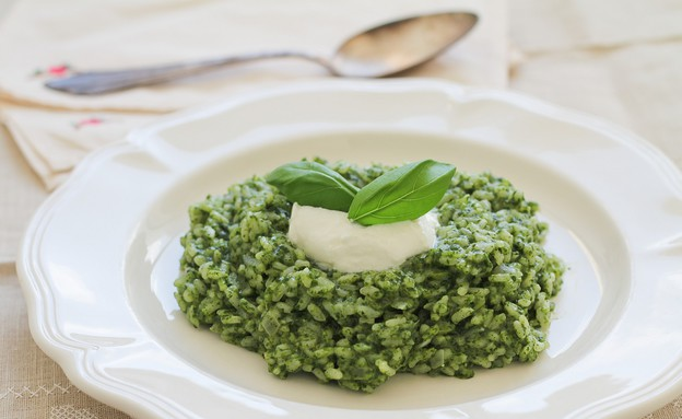"""ריזוטו ירוק (צילום: עידית נרקיס כ""""ץ, אוכל טוב)"""