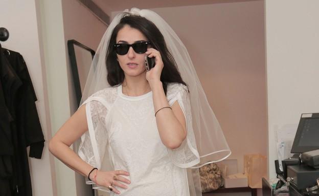 ליאת אשורי שמלת כלה  (צילום: ענת מוסברג)