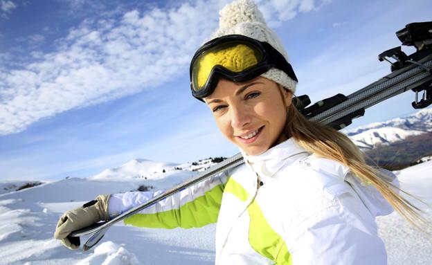 גולשת, סקי (צילום: אימג'בנק / Thinkstock)