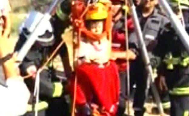 החילוץ במערות חזן (צילום: חדשות 2)