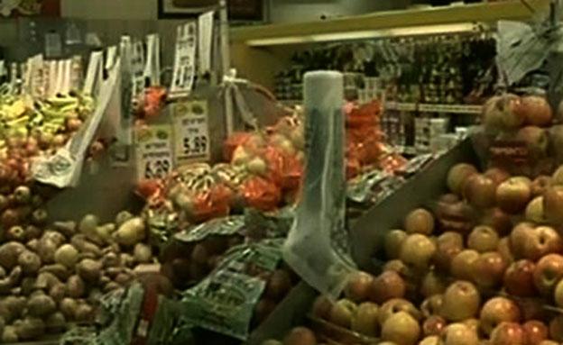 נעלמו מהצלחת? ירקות בסופרמרקט (צילום: חדשות 2)