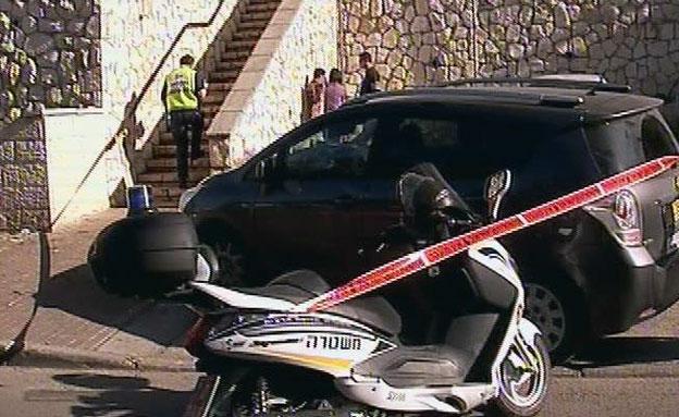 זירת התאונה בירושלים (צילום: חדשות 2)
