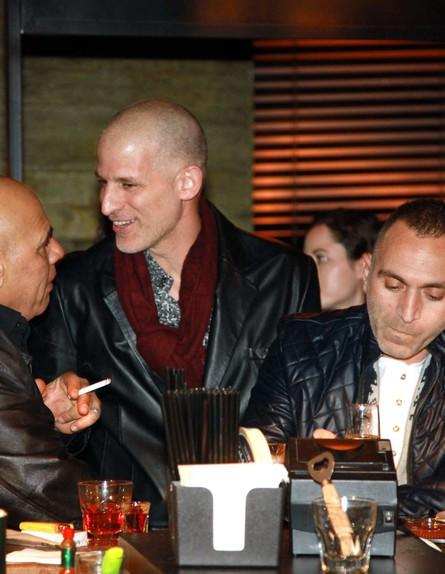 רשף לוי, שלום מיכאלשווילי ואורי גבריאל (צילום: אמיר מאירי)