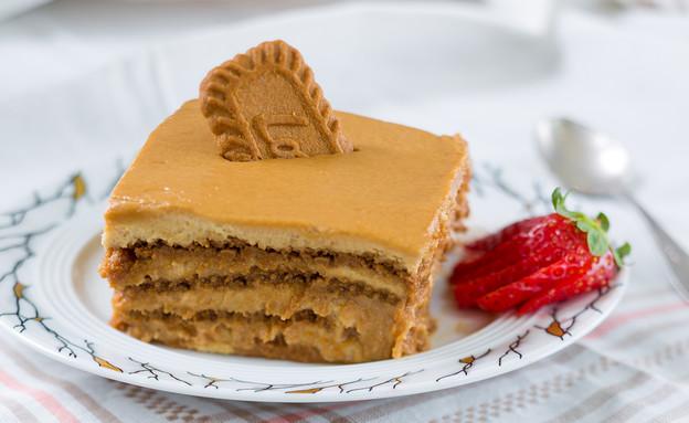 עוגת עוגיות לוטוס של אביבה פיבקו (צילום: בני גם זו לטובה, אוכל טוב)