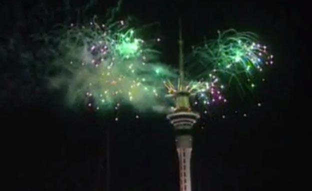 חוגגים 2013 , זיקוים בניו זילנד (צילום: חדשות 2)