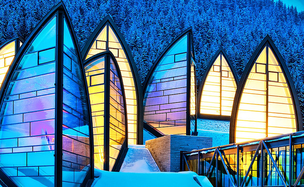 en.tschuggen מלונות מושלגים, אוסטריה גגות, צילום (צילום: en.tschuggen)
