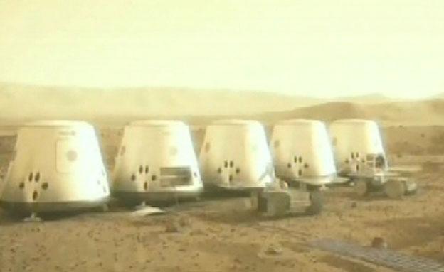 הדמיית ההתיישבות על המאדים (צילום: חדשות 2)