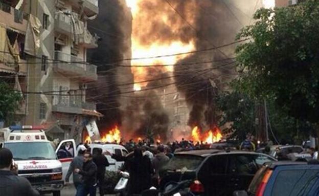פיצוץ דאחייה (צילום: חדשות 2)