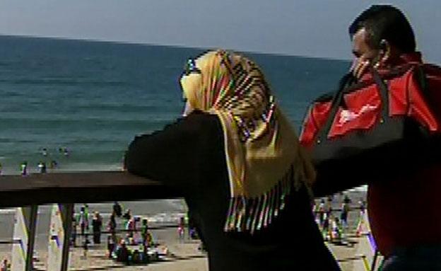 ערבים, ים (צילום: חדשות 2)