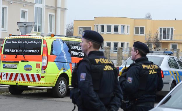 זירת הפיצוץ בפראג