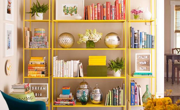 ספריה צהובה (צילום Better homes&gardens) (צילום: Better homes&gardens)