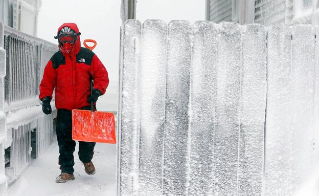 קור מקפיא בבוסטון (צילום: AP)