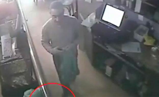 צפו בסרטון ממצלמת האבטחה