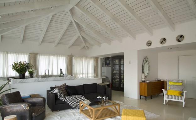 הסלון של דפנה קסטיאל (צילום: אמית הרמן)