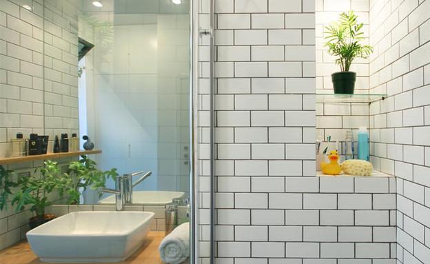 בית ונוי מתיחת פנים אמבטיה קיר (צילום: איתי גדרון)
