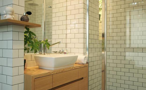 בית ונוי מתיחת פנים אמבטיה שיש (צילום: איתי גדרון)