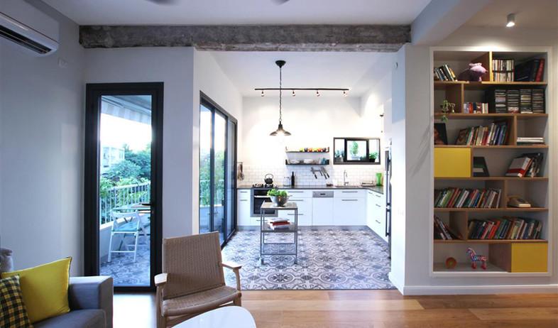 בית ונוי מתיחת פנים מטבח מרפסת (צילום: איתי גדרון)