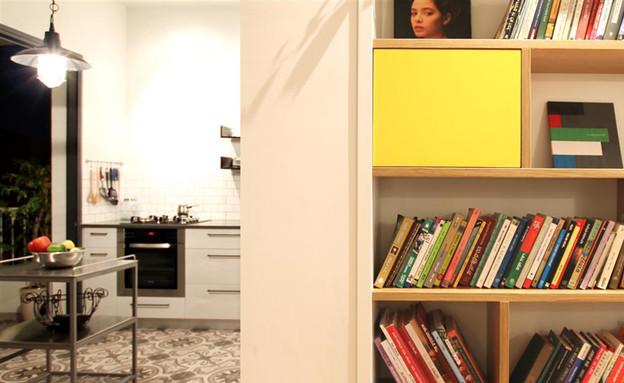 בית ונוי מתיחת פנים ספריה מטבח (צילום: איתי גדרון)