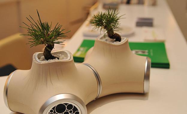 עציצי העתיד, רמקולים צמח (צילום: jvcs-sound-garden)
