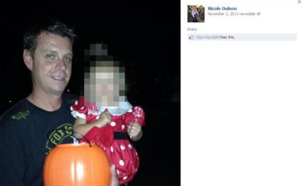 הנרצח: צ'אד אולסן, שלח הודעות לבתו בת השלוש (צילום: Fox 13)