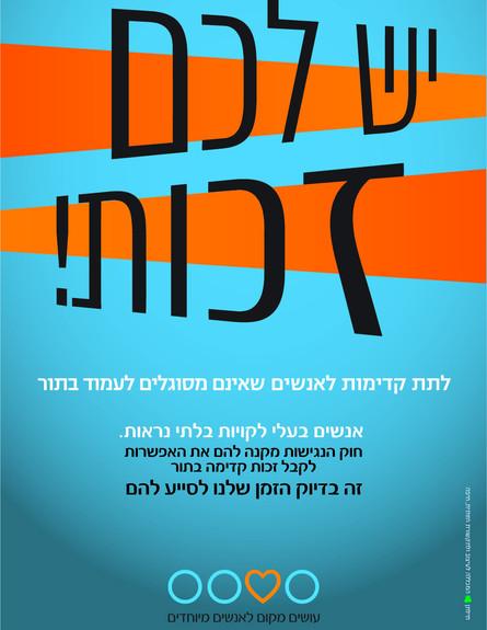 קמפיין נגישות לעמותת אלוט  (צילום: מכללת תילתן,  יחסי ציבור )