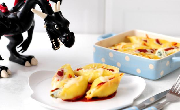 קונכיות פסטה במילוי גבינות (צילום: שרית נובק - מיס פטל, אוכל טוב)
