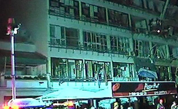 הבניינים אחרי הפיצוץ (צילום: חדשות 2)