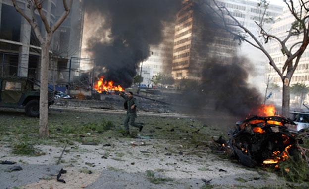 פיצוץ בביירות (צילום: חדשות 2)