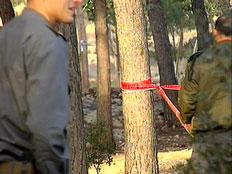 הזירה שבה נמצאה הגופה, הבוקר (צילום: חדשות 2)