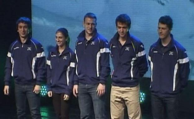 חמשת הספורטאים אולימפיים (צילום: חדשות 2)