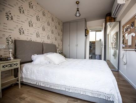 שיפוץ הלל אדריכלות, חדר שינה כיסוי (צילום: לירן שמש)