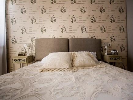 שיפוץ הלל אדריכלות, חדר שינה מיטה (צילום: לירן שמש)