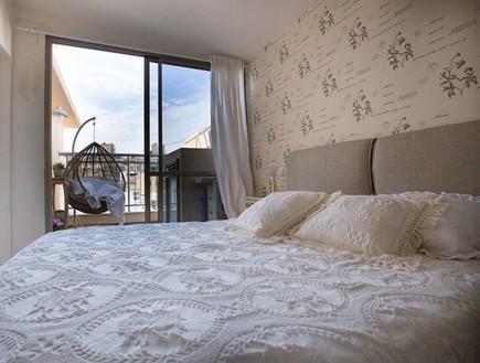 שיפוץ הלל אדריכלות, חדר שינה מרפסת (צילום: לירן שמש)