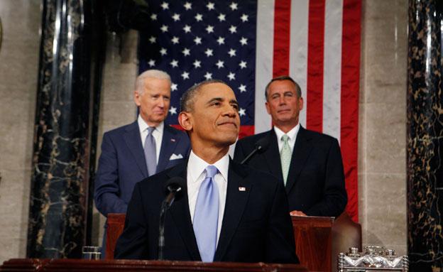 אובמה נואם לאומה, הלילה (צילום: רויטרס)