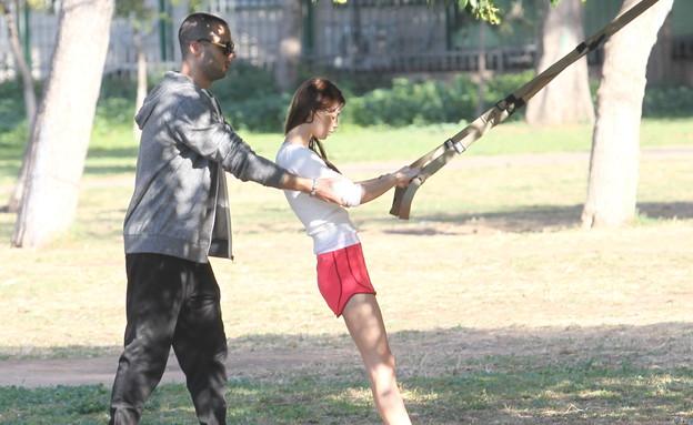 רוסלנה רודינה באימון כושר  (צילום: ראובן שניידר )