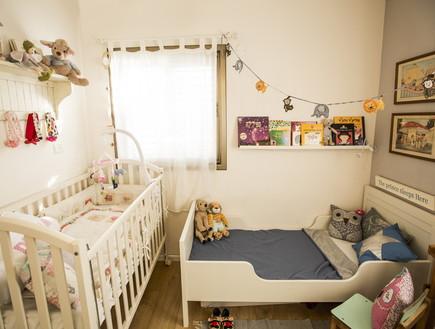 שיפוץ הלל אדריכלות, חדר ילדים מיטות (צילום: לירן שמש)