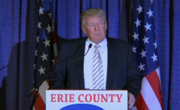 טראמפ באירוע הרפובליקני בניו יורק (צילום: רויטרס)
