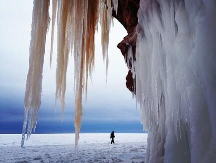 קיר נטיפים, מערת הקרח בויסקונסין