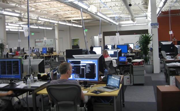 משרדי פייסבוק בפאלו אלטו (מתוך: wonky.com) (צילום: צילום מסך)