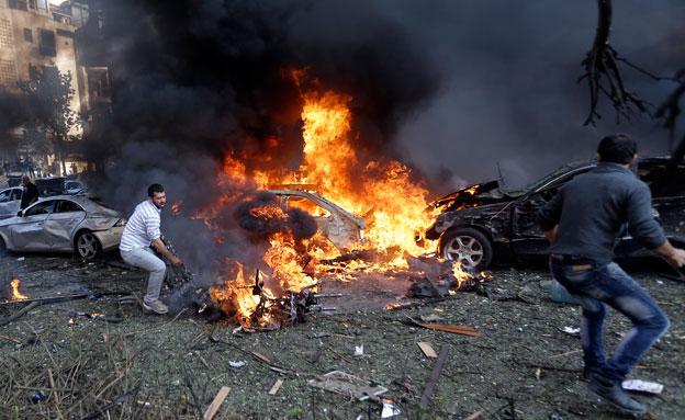 פיצוץ לבנון (צילום: חדשות 2)