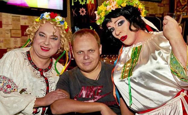 הומואים בסוצ'י (צילום:  Photo by Flash90, פייסבוק)