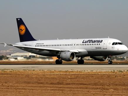 """מטוס לופטהנזה בנתב""""ג, ארכיון (צילום: יוחאי מוסי)"""