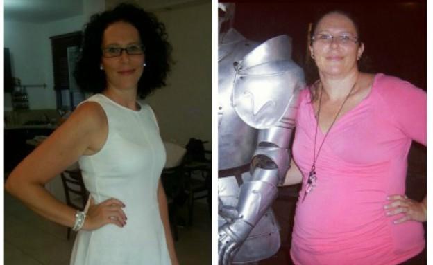 שירלי טרלו לפני ואחרי (צילום: תומר ושחר צלמים, צילום ביתי)
