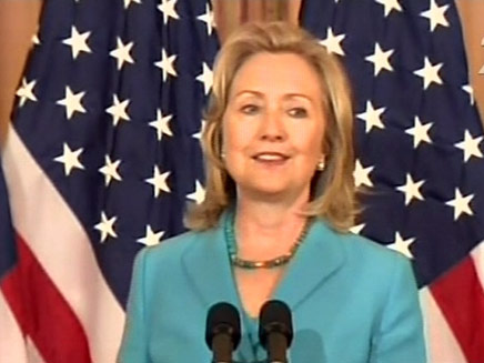 הנשיאה הראשונה? קלינטון (צילום: חדשות 2)